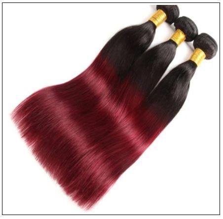 burgundy ombre bundles with closure 3-min