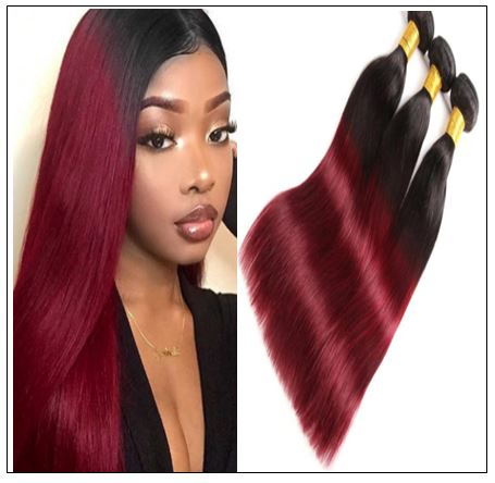 burgundy ombre weave img-min