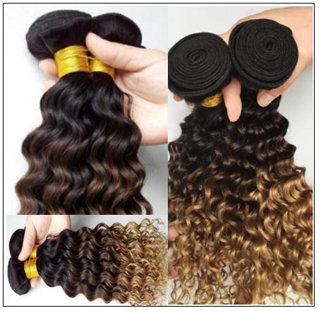 ombre wavy hair weave 2..