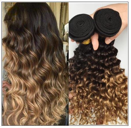 ombre wavy hair weave 3