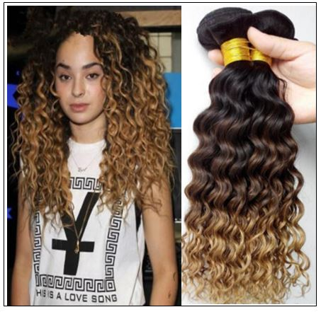 ombre wavy hair weave img
