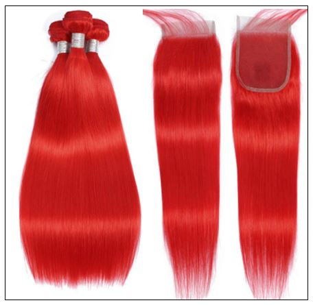 red brazilian bundles with closure 2
