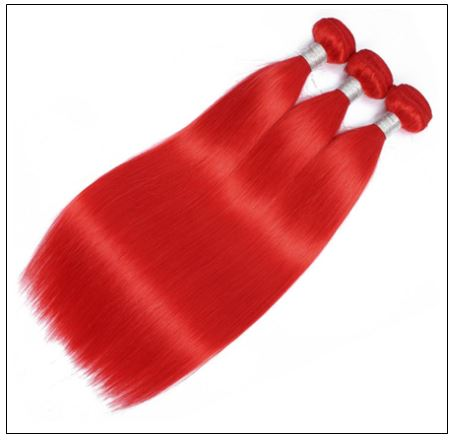 red brazilian bundles with closure 3