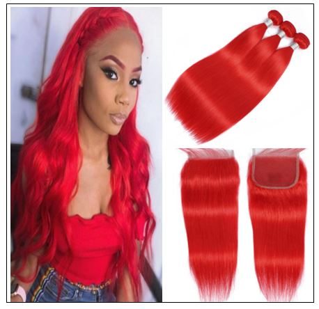 red brazilian bundles with closure img