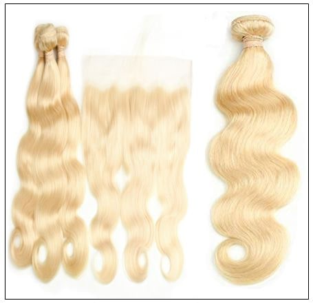 100%human hair unprocessed 613 Color Body Wave 3 Bundles With 13x4 Lace Frontal 3-min