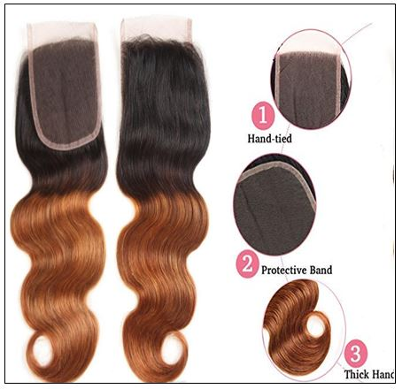 1B 30 Brown Color Brazilian Body Wave With Closure Full Head Evan Hair Ombre Body Hair Bundles Closure 2-min