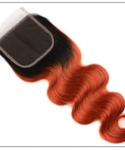 1B 350 Color Ombre Human Hair 3 Bundles With Closure Body Wave Weave 3-min