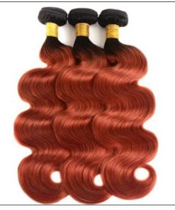 1B 350 Color Ombre Human Hair 3 Bundles With Closure Body Wave Weave 4-min