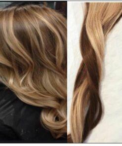 3 Bundles Dirty Blonde Hair With Brown Highlights img