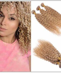 3 Bundles Kinky Curly Colour 27 Hair IMG-min