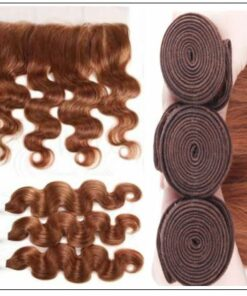Brazilian Human Hair Body Wave Color Weave Bundles and Frontal #30 3 img-min