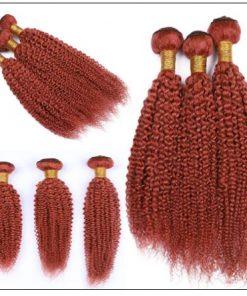 Brazilian Kinky Curly Orange Remy Human hair bundles 3-min