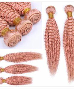 Kinky Curly Pink Human Hair 2-min
