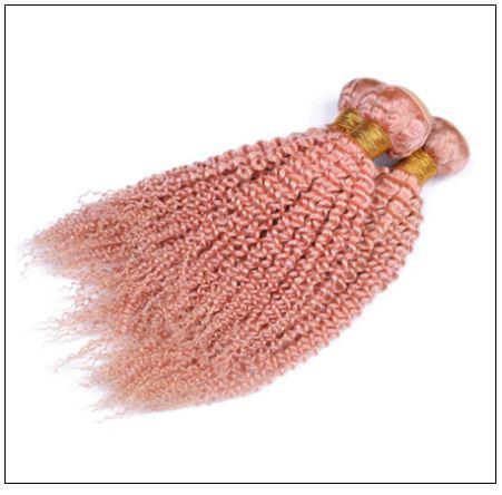 Kinky Curly Pink Human Hair 4-min