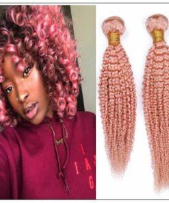 Kinky Curly Pink Human Hair img-min