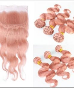 Rose Gold Body Wave With Lace Frontal 2-min
