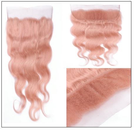 Rose Gold Body Wave With Lace Frontal 3-min