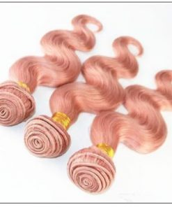 Rose Gold Body Wave With Lace Frontal 4-min