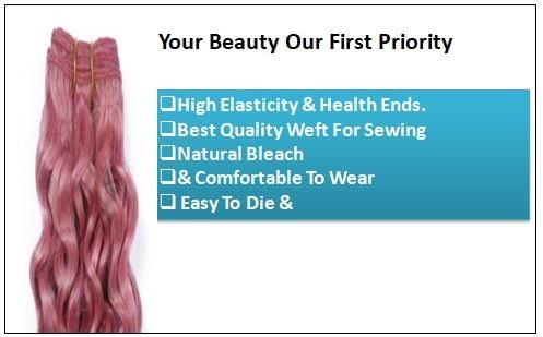 Rose Pink Deep Curly Virgin hair extensions 1-min