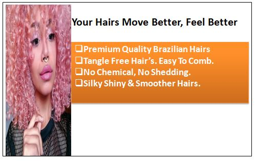 Rose Pink Deep Curly Virgin hair extensions-min