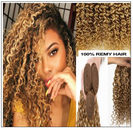 blonde highlights curly hair img