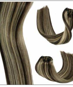 dark brown hair with blonde highlights 2-min