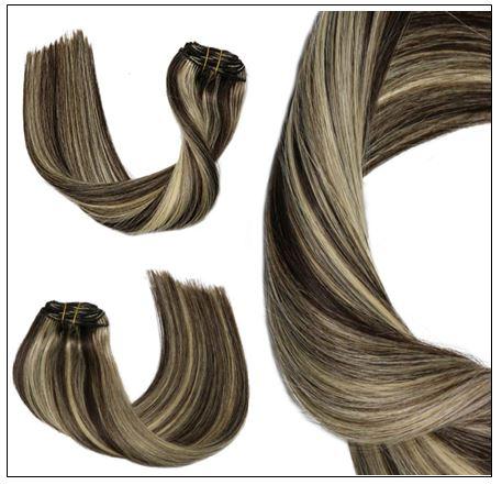 dark brown hair with blonde highlights 4-min