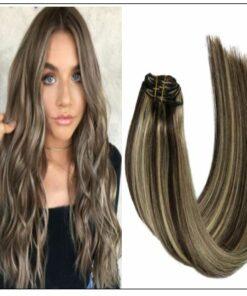 dark brown hair with blonde highlights img-min