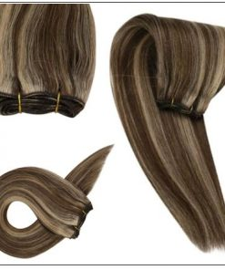 dark brown hair with caramel and blonde highlights 2