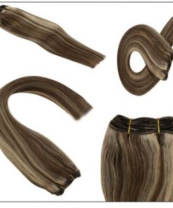 dark brown hair with caramel and blonde highlights 4-min
