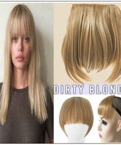 dirty blonde hair with bangs img