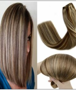 short brown hair with blonde highlights (6)-min