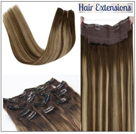 Ash Blonde Highlights on Dark Brown Hair Extensions 3-min
