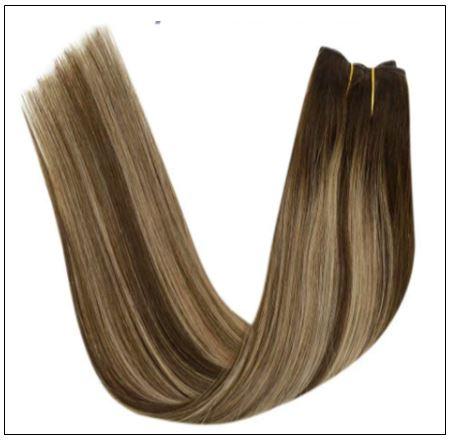 Ash Blonde Highlights on Dark Brown Hair Extensions 4-min