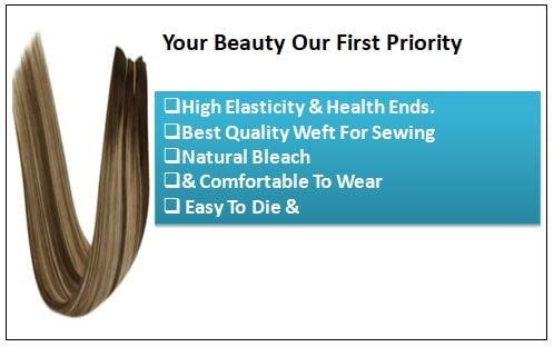 Ash Blonde Highlights on Dark Brown Hair Extensions-min