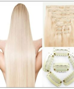 Ash Blonde Short Hair Extensions (2)-min