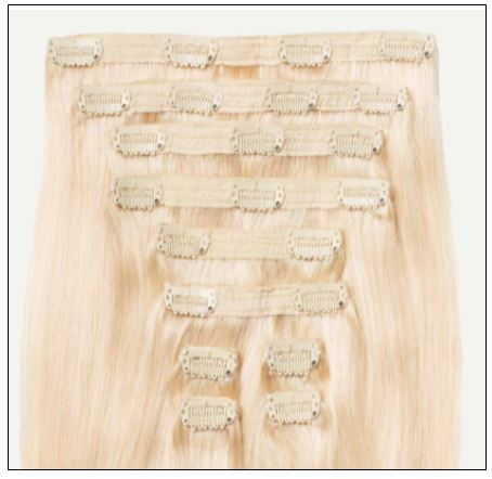 Ash Blonde Short Hair Extensions (4)-min