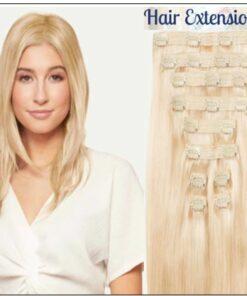 Ash Blonde Short Hair Extensions img-min