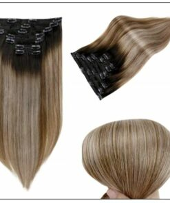 Balayage Clip in Hair Extensions 3
