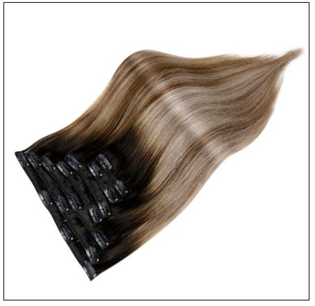 Balayage Clip in Hair Extensions 4