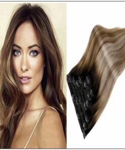 Balayage Clip in Hair Extensions img