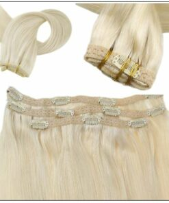 Blonde Clip in Hair Extensions 2