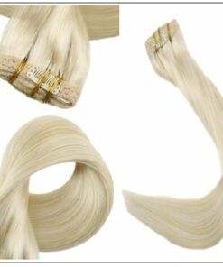 Blonde Clip in Hair Extensions 3