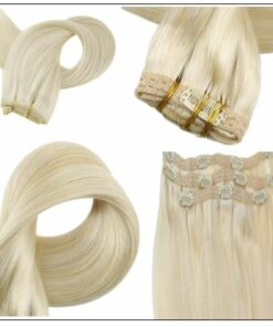 Blonde Clip in Hair Extensions 4