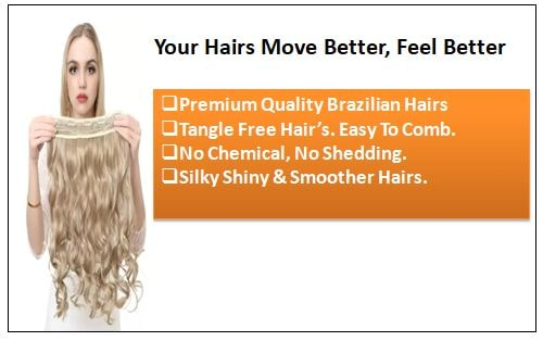 Blonde Curly Clip in Hair Extension 1-min
