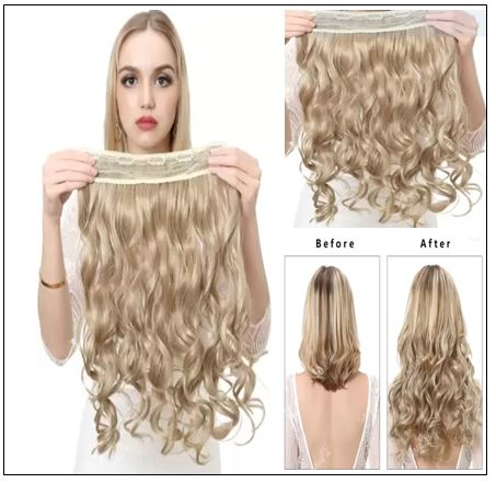 Blonde Curly Clip in Hair Extension 2