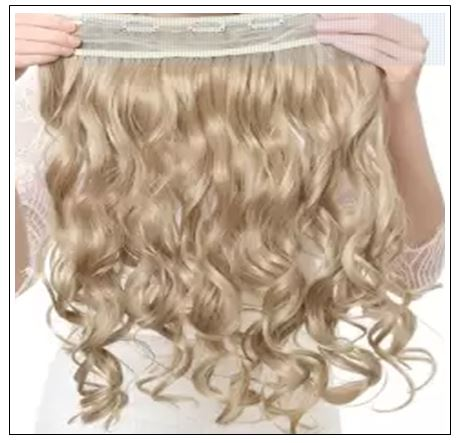 Blonde Curly Clip in Hair Extension 3
