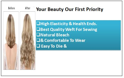 Blonde Curly Clip in Hair Extension