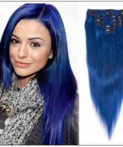 Blue Clip in Hair Extensions (2)