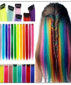 Clip In Colored Hair Extensions (1)